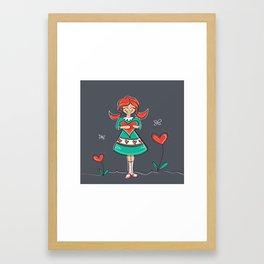 Where Love Grows Framed Art Print