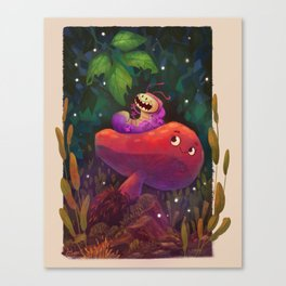 Caterpillar friend Canvas Print