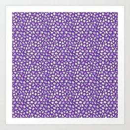 Crayon Rocks 10 | Purple & White Art Print