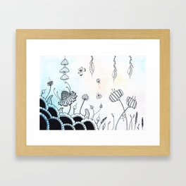 Magic Garden Ink and Watercolor Framed Art Print