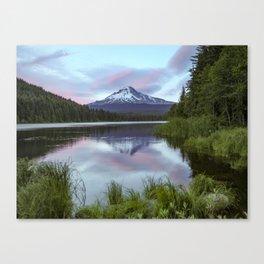 Mt Hood Sunset Trillium Lake  7-12-19 Canvas Print