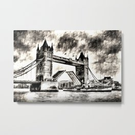 Tower Bridge and the Waverley Art Metal Print