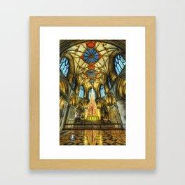 Tewkesbury At Christmas Framed Art Print