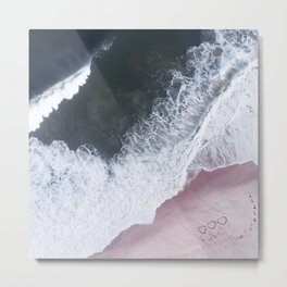 I love the sea - heart and soul Metal Print