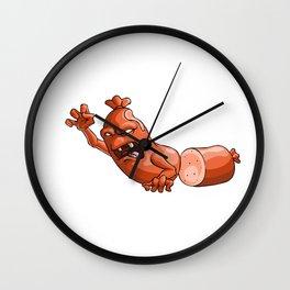 Zombie Sausage Party Yummy Oktoberfest German Wall Clock