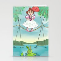 haunted mansion Stationery Cards featuring Baby Haunted Mansion Tightrope Ballerina by Amanda K. Hootman