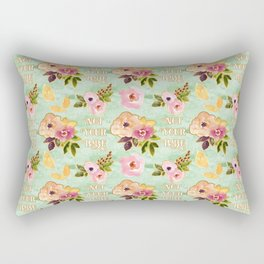 Floral 'Not Your Babe' print Rectangular Pillow