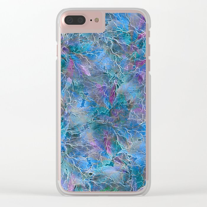 Frozen Leaves Clear iPhone Case