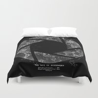 aperture Duvet Covers featuring Traveling Lens by Tobe Fonseca