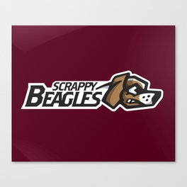 Scrappy Beagles Full Logo Canvas Print
