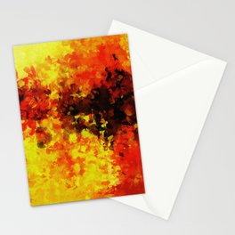 Yellow Abstract Art Stationery Cards