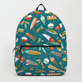 Fishing Lures Blue Backpack