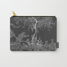 Sydney Map, Australia - Gray Carry-All Pouch