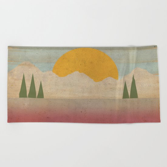Day in the Forest Beach Towel