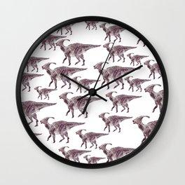Parasaurlophuses Wall Clock