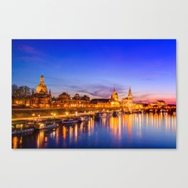 Dresden old town skyline, Germany Canvas Print