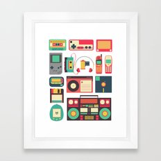 RETRO TECHNOLOGY 1.0 Framed Art Print