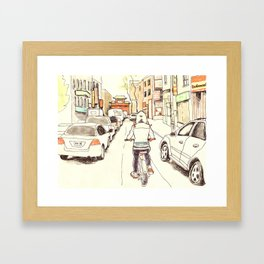 Montreal Bike Ride Framed Art Print