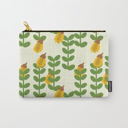 Retro Kowhai Pattern Carry-All Pouch