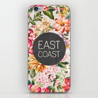 tupac iPhone & iPod Skins featuring East Coast by Text Guy