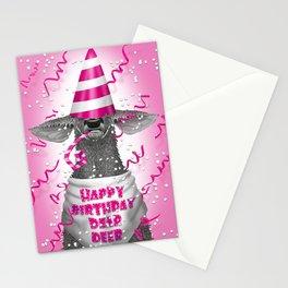 Happy birthday dear deer Stationery Cards