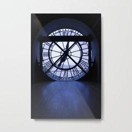 Clock is ticking - Paris Metal Print