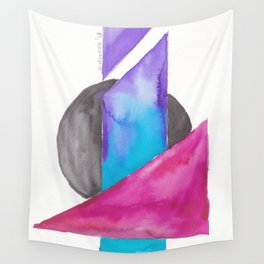 180818 Geometrical Watercolour| Colorful Abstract | Modern Watercolor Art Wall Tapestry