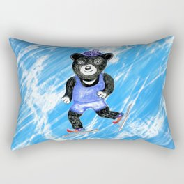 Skating bear Rectangular Pillow