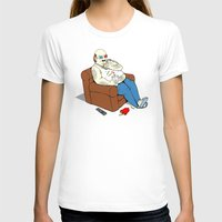 potato T-shirts featuring Couch Potato by pigboom el crapo