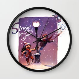 Singin' In The Snow Wall Clock