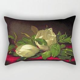 Magnoliae Grandeflorae (Magnolia) on Red Velvet by Martin Johnson Heade Rectangular Pillow