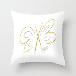 April's Butterflies Throw Pillow
