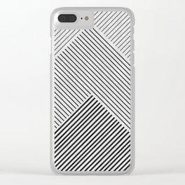 Modern Pattern XVIII Clear iPhone Case