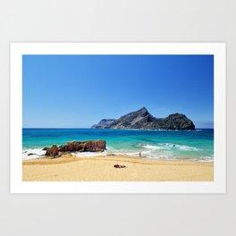 Sunny beach on Porto Santo (RR 276) Art Print