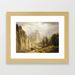 Merced River Yosemite Valley 1866 By Albert Bierstadt | Reproduction Painting Framed Art Print