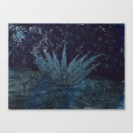 Lotus and the Spider Canvas Print