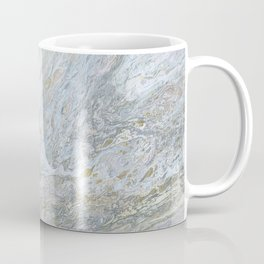 Gold, White, Grey, and Pink Coffee Mug