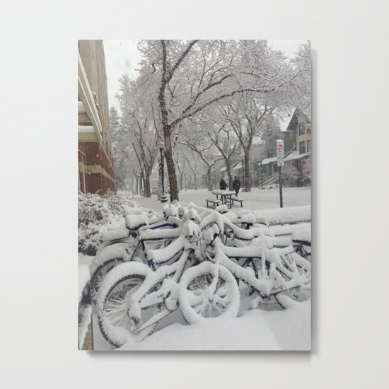 Babe, its cold outside Metal Print