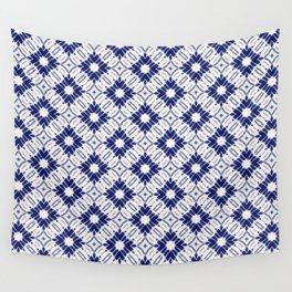 Watercolor Shibori Blue Wall Tapestry