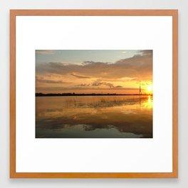 Hometown  sunset time Framed Art Print