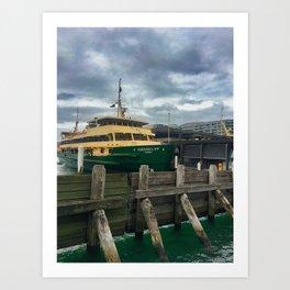 Queenscliff Sydney Ferry Art Print