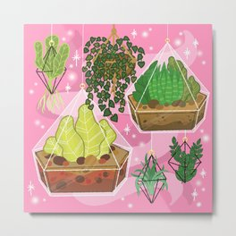 Hanging House Plants Metal Print