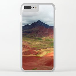 Red Valley Clear iPhone Case