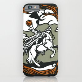 The Headless Horseman Illustration iPhone Case