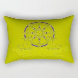 Dharmachakra – Wheel of Law Rectangular Pillow