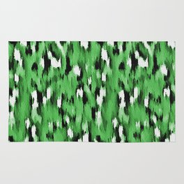 Green Leopard Pattern Rug