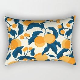 Vintage Apricot Pattern Rectangular Pillow