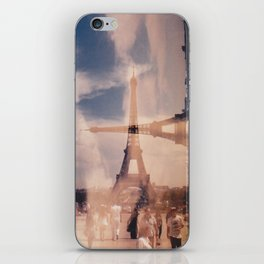 Dueling Eiffel Towers V2 // Paris iPhone Skin