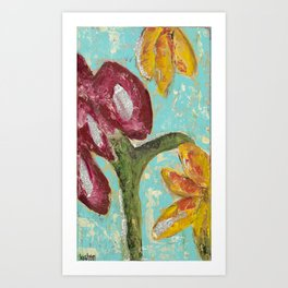 Wordy Garden Art Print