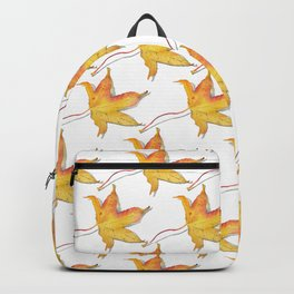 Yellow autumn leaf watercolour Backpack